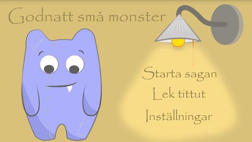 Barnbok - Godnatt små monster