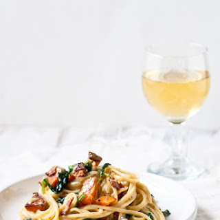 Sweet Potato & Spinach Carbonara