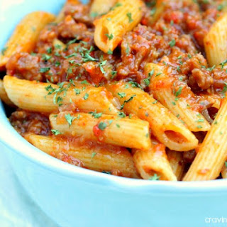 Roasted Red Pepper and Italian Sausage Pasta