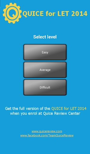 【免費教育App】QUICE for LET 2014-APP點子