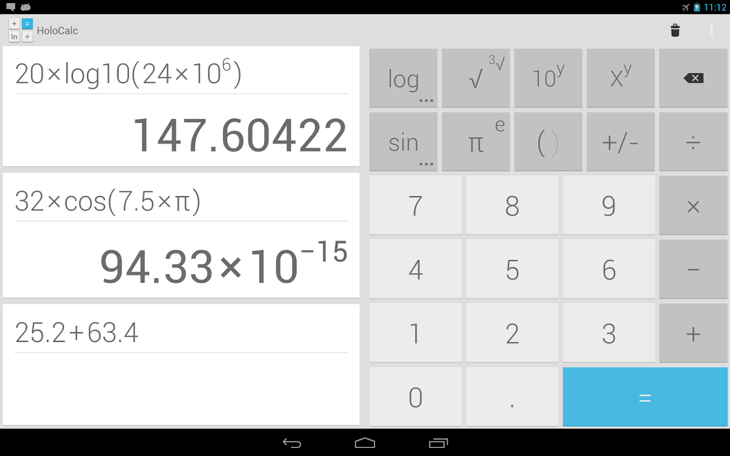 HoloCalc Scientific Calculator - screenshot