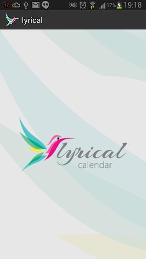 Lyrical Calendar