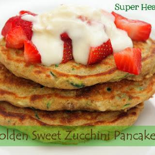 Golden Sweet Zucchini Pancakes.