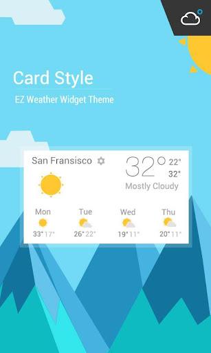 物質卡片風格時鐘天氣小工具﹣琥珀天氣,最贊的天氣小工具!