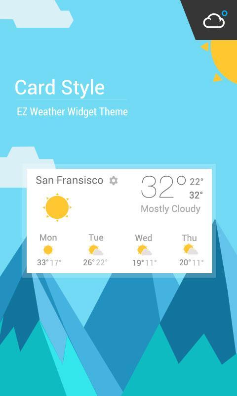 Lollipop Card UI Style Widget- screenshot