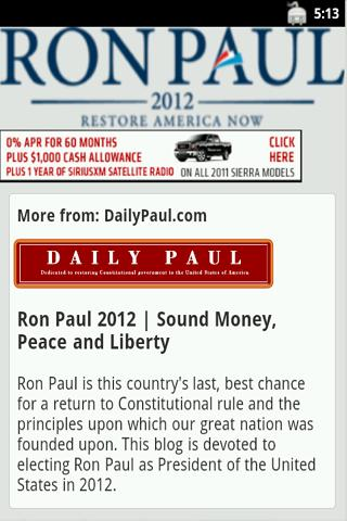 Ron Paul - The App - screenshot