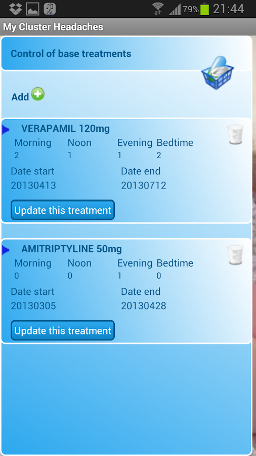 My Cluster Headache - screenshot