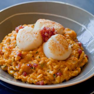 Pumpkin Risotto with Seared Scallops