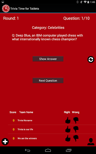 【免費益智App】Trivia Time for Tablets-APP點子