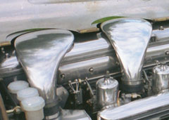 One off custom Bentley turbo manifolds