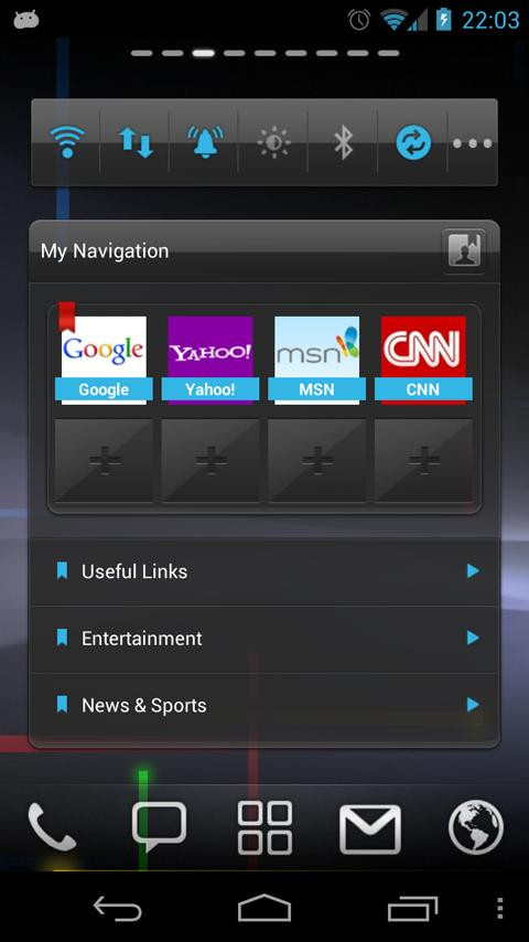 Trans Blue GOWidget Theme - screenshot