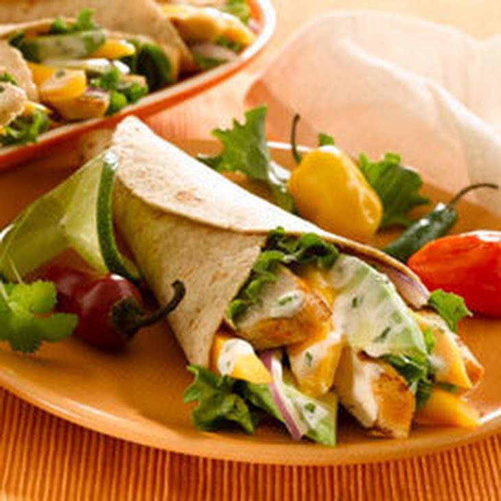 Grilled Chicken & Mango Wraps