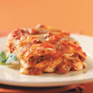 Cream Cheese and Swiss Lasagna Recipe.