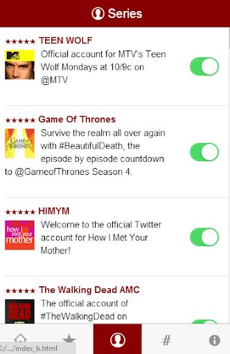 Tv Series Tweet - follow them