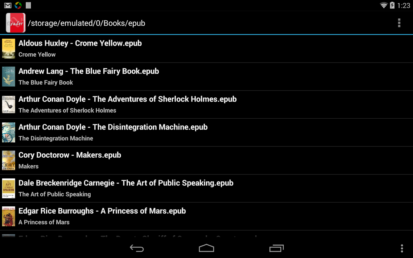 EBook Reader & EPUB Reader - screenshot