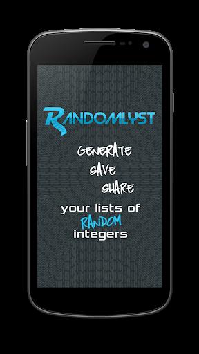 Randomlyst - 生成的随机数列表