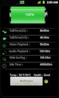 Screenshot of Battery notification & widget