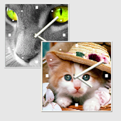 Multi Cat Clock Widget