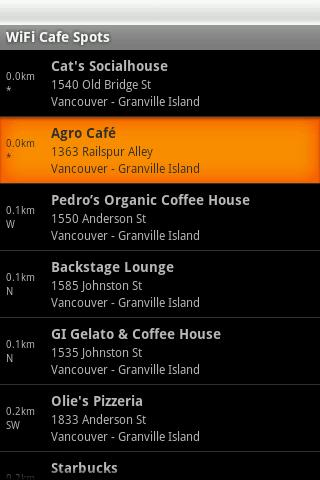 Vancouver Free WiFi- screenshot