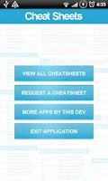 Screenshot of Cheat Sheets