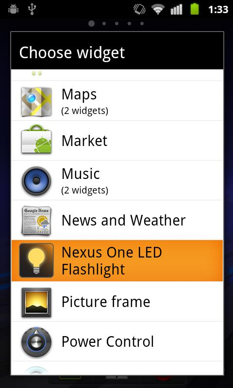Nexus One LED Flashlight - screenshot