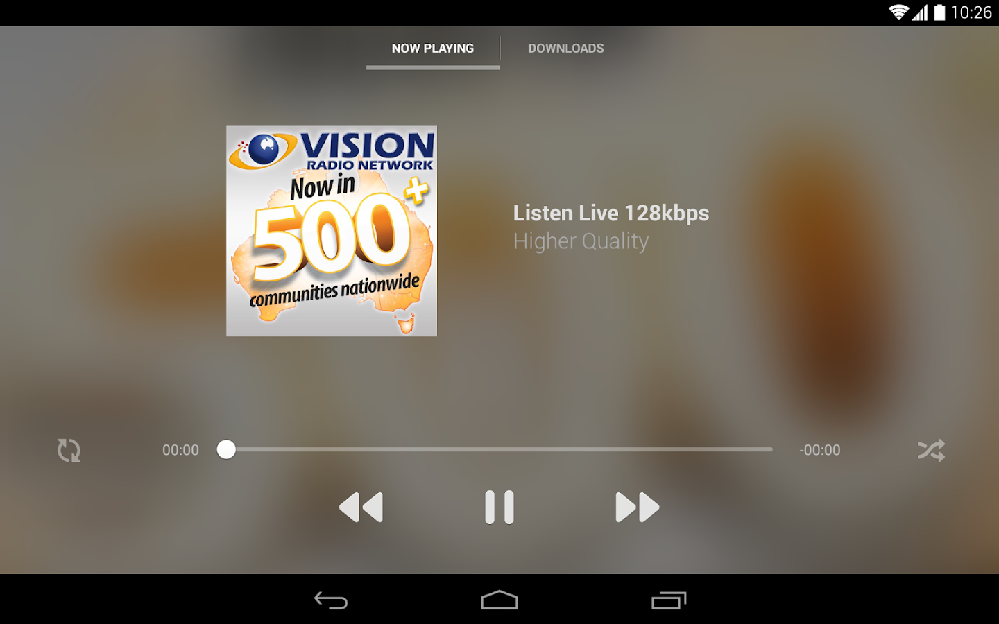 UCB & Vision Radio - screenshot