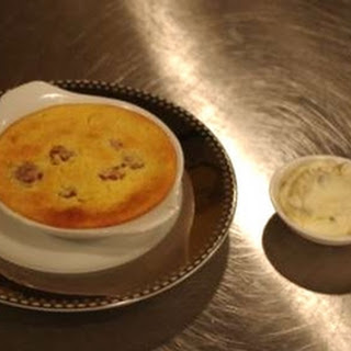 Raspberry And Passion Fruit Curd Pudding.