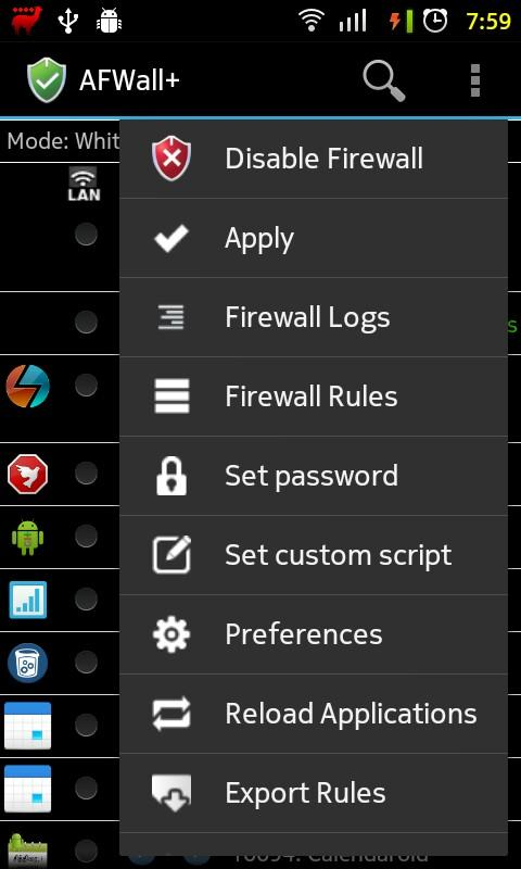 AFWall+ (Android Firewall +) - screenshot