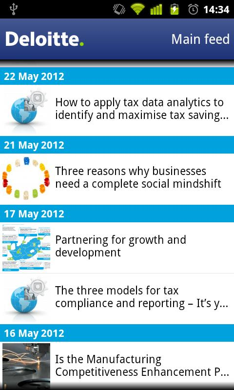 Deloitte SA iNsight - screenshot