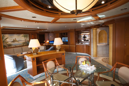 Star-Princess-Grand-Suite-living-area - The living area of the Grand Suite on deck 11 of Star Princess.