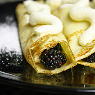 Blackberries and Cream Crepes Recipe