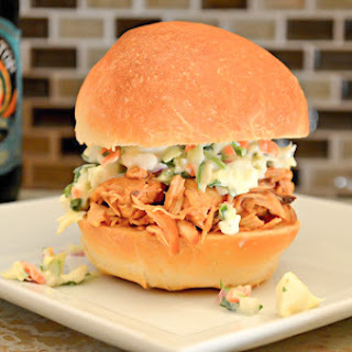 Easy Crock-pot Pulled Chicken With Homemade BBQ Sauce.
