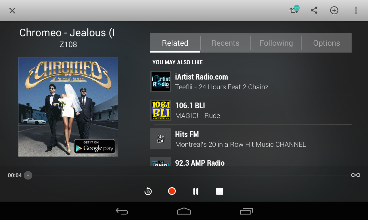 TuneIn Radio Pro - screenshot