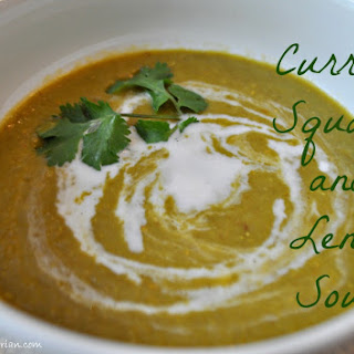 Creamy Curried Squash and Lentil Soup Recipe