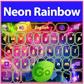 Neon Rainbow Keyboard