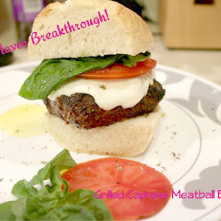 Grilled Caprese Meatball Burgers!
