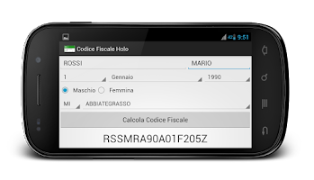 Screenshot of Calcola Codice Fiscale