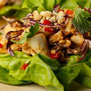 Sunny Anderson's Quick Thai Chicken Lettuce Wraps