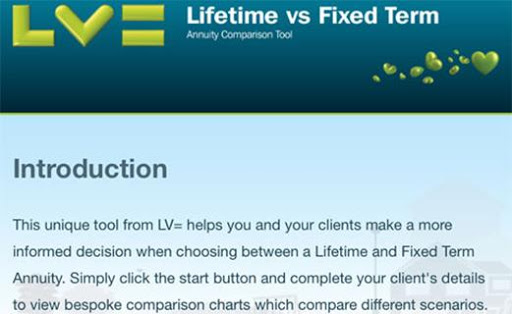 LV= Fixed vs. Lifetime Annuity