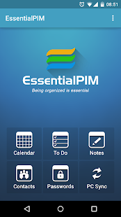 EssentialPIM - screenshot thumbnail