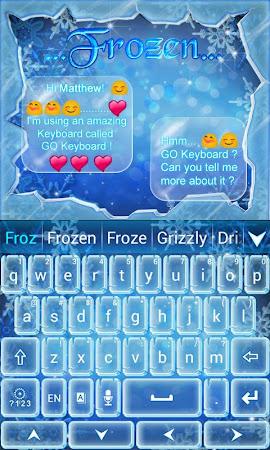 Frozen GO Keyboard Theme 3.87 screenshot 636201