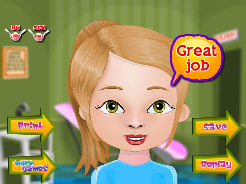 Pimple Trouble Girls Games- screenshot