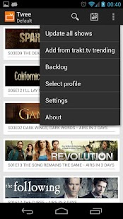 Twee - keep track of tv-series - screenshot thumbnail
