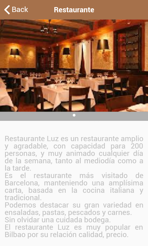 Restaurante Luz- screenshot