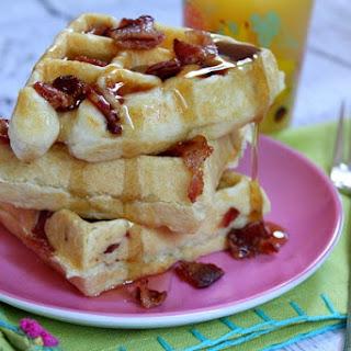 Maple- Bacon Waffles.