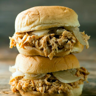 Slow Cooker Beer Chicken Sliders