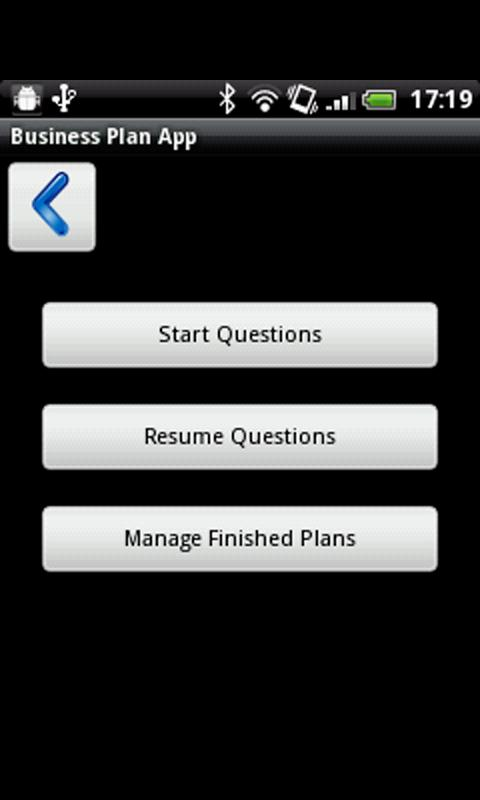 Business Plan App- screenshot