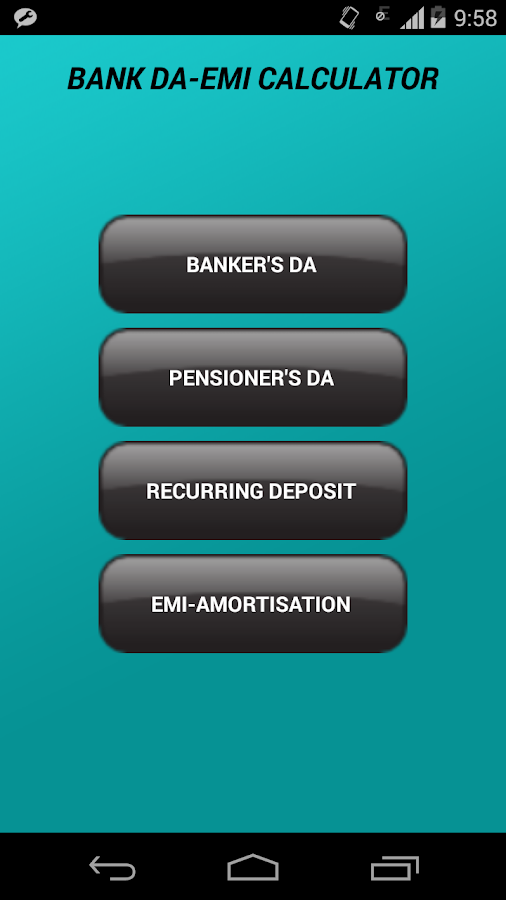 Bank DA-EMI Calculator- screenshot
