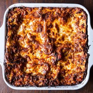 Birthday Lasagna.