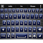 Theme for A.I.type Metal Blue v1.3